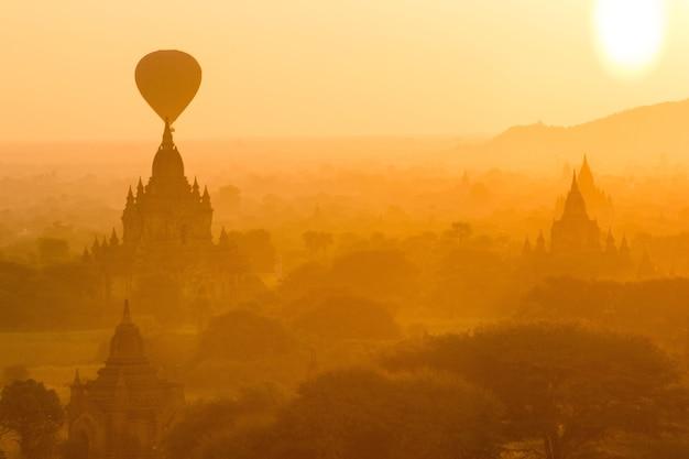 Bagan at sunrise, mandalay, myanmar