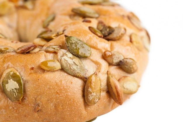 Bagel with pumpkin seeds