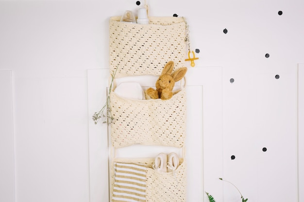 Bags with stuff for baby
