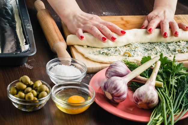 Baguette bread dough preparation