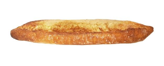 바게트 드 고통. 흰색 배경에 분리된 갓 구운 바게트, 위쪽 전망. 클리핑 패스 사용