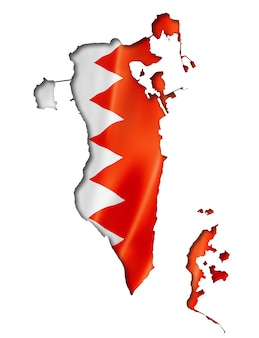 Bahrain flag map