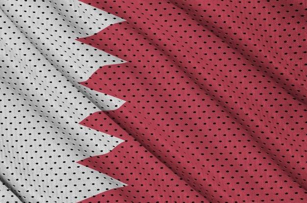 Bahrain flag printed on a polyester nylon mesh