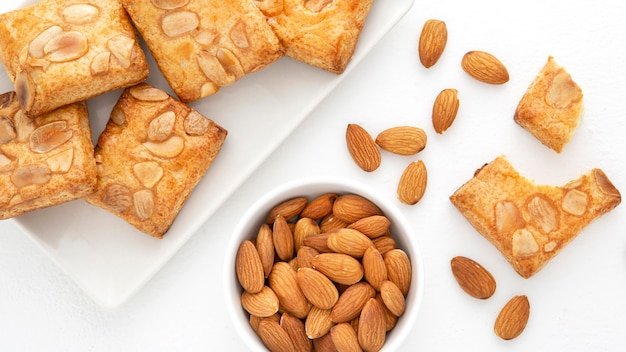 Baked biscuits with almonds