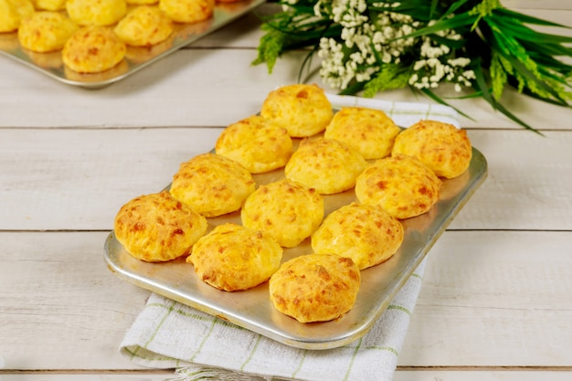 Baked brazilian cheese bread made from cassava starch.