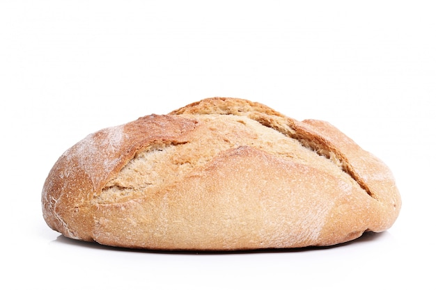Baked bread isolated