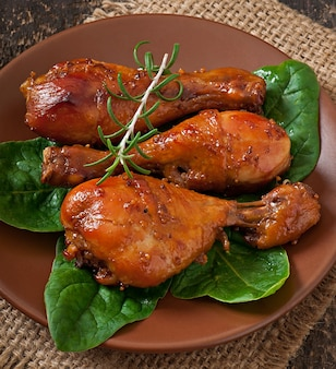 Cosce di pollo al forno in marinata di senape al miele