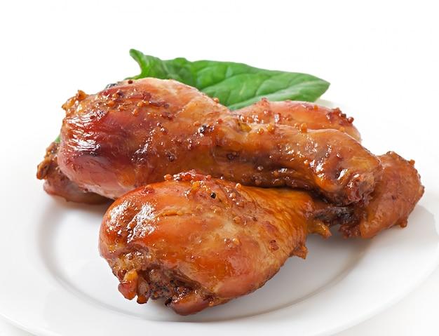 Запеченные куриные ножки в медово-горчичном маринаде