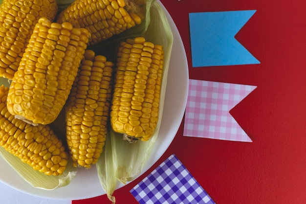 Baked corn typical brazilian junina