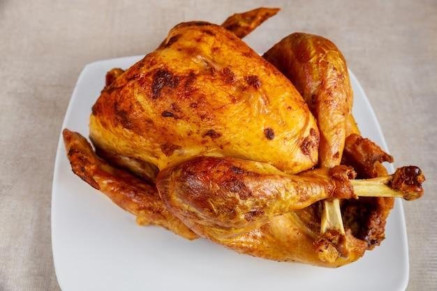 Baked crispy turkey for thanksgiving day or christmas.