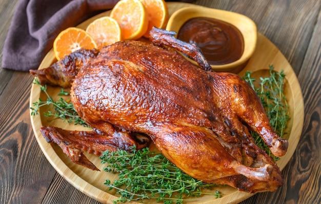 木製トレイの焼き鴨