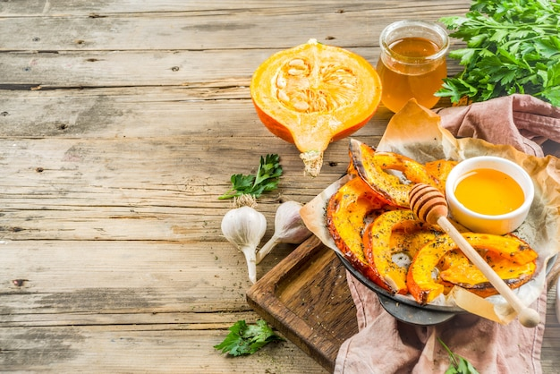 Baked hokkaido pumpkin