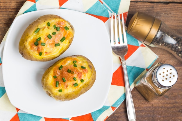 Baked potato with cheese