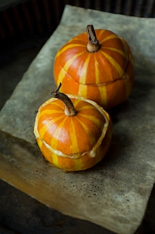Baked pumpkin with bolognese