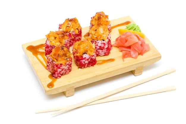 Baked sushi, traditional japanese food