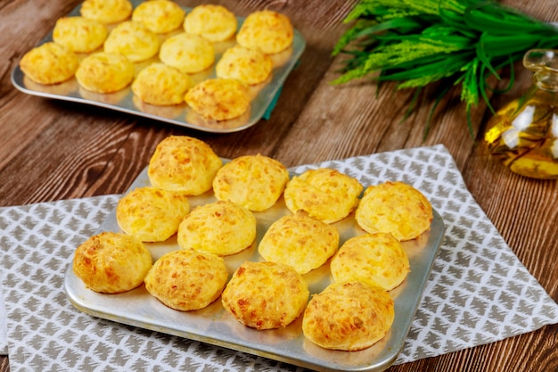 Baked tasty cheese bread called chipa.