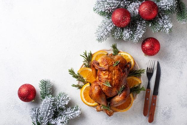 Запеченная индейка на рождественский обед