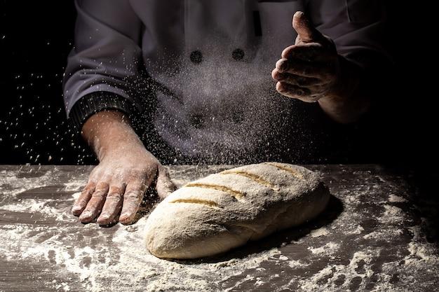 パン作りのパターンスペインパンの製造工程