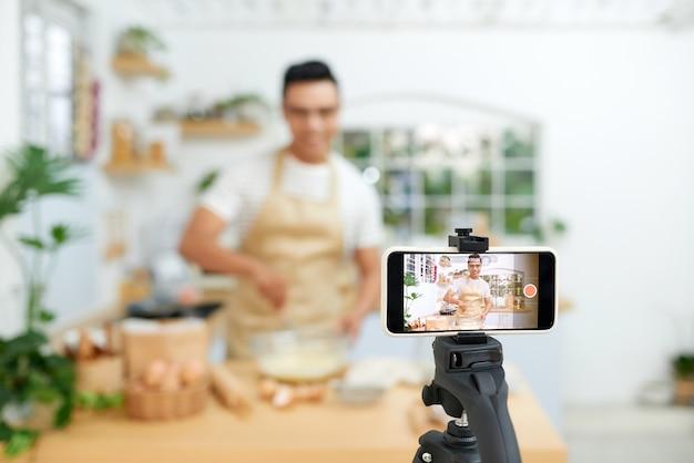 베이커 온라인 과정, 음식 준비 및 요리 교육 수업 개념