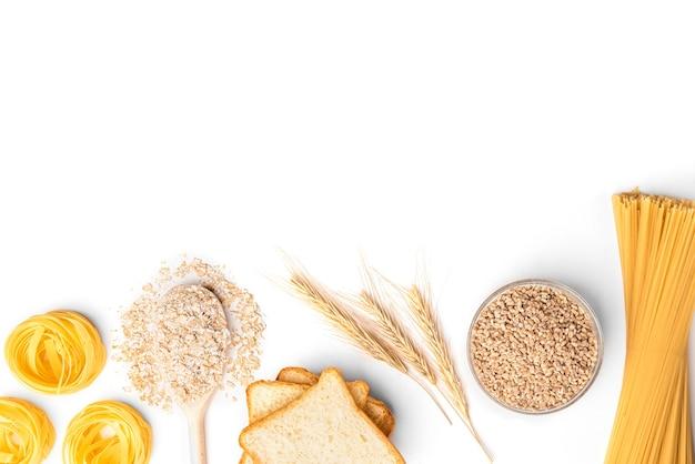 Изолированные хлебобулочные и макаронные изделия.