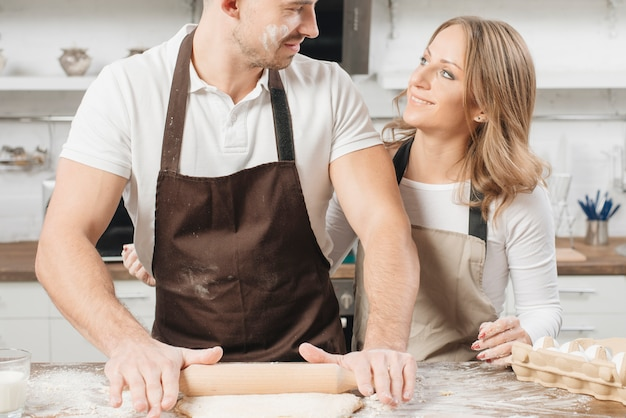 Bakery concept with couple at home
