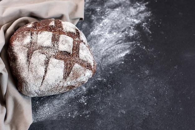 베이커리 신선한 소박한 홈메이드 바삭한 빵 평면도