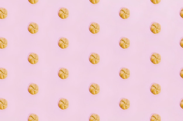Bakery pattern with baked cookies