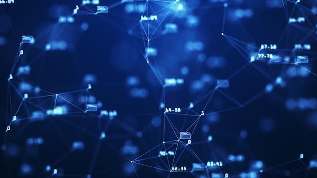 Растущая глобальная сеть и передачи данных bakground