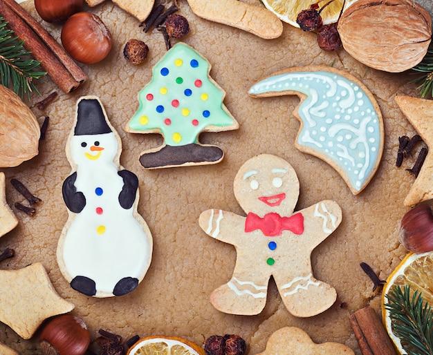 クリスマスのクッキーを焼く