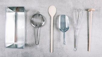Baking stainless steel baking equipment on white background