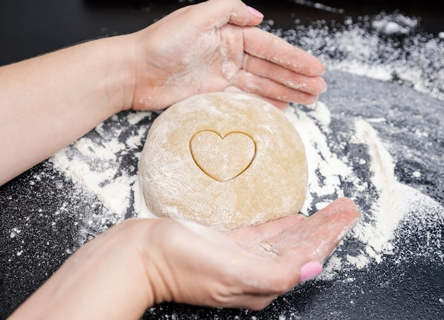 Baking for valentine's day and a romantic date.