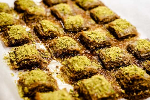 Baklava, exquisite typical turkish dessert.