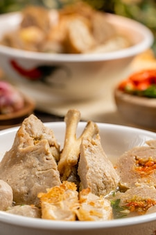 Баксо или басо - индонезийская фрикаделька.