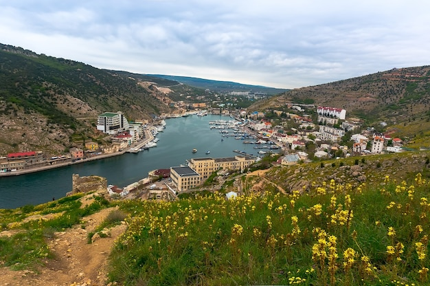 The balaclava. view from the top of the bay in the suburbs of sevastopol