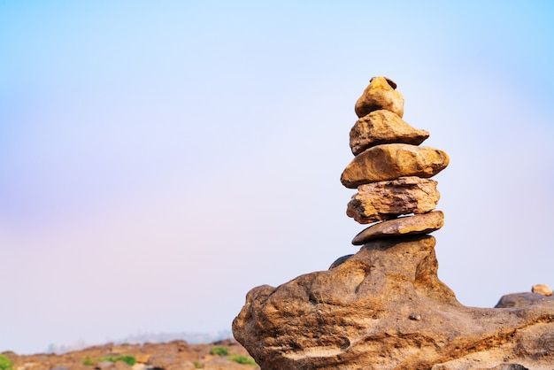 Balance and harmony stone stack