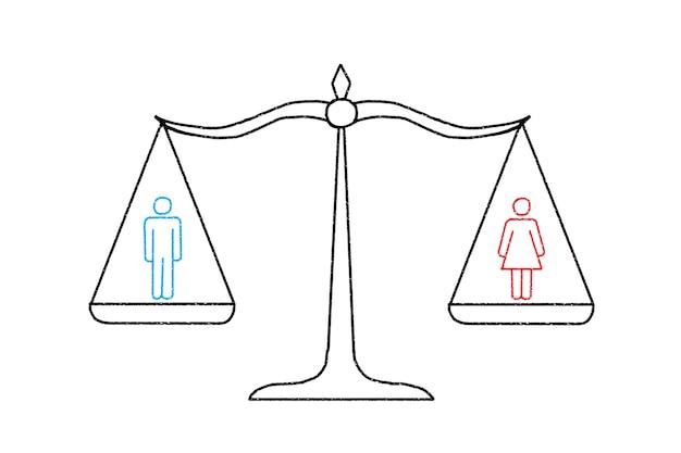 Весы с мужчиной и женщиной