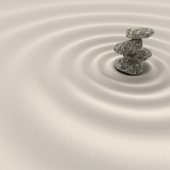 Balance in zen meditation garden relaxation and simplicity for concentration.