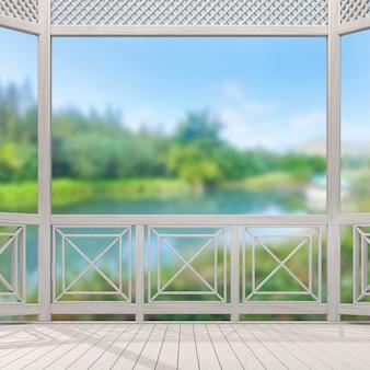 Балкон и терраса размытия фона природы