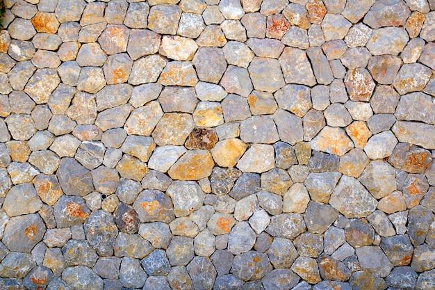 Balearic typical stone masonry perfect mosaic texture