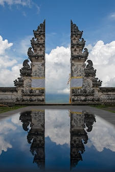 Bali temple reflection