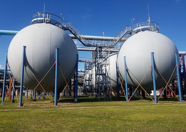 Шаровой газгольдер контрольно-измерительного прибора