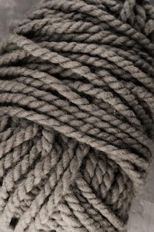 Ball of colored wool yarn