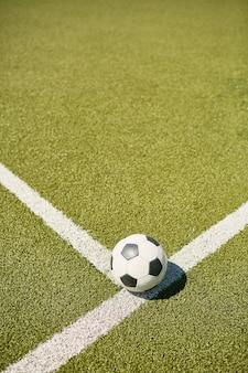 Ball on football field