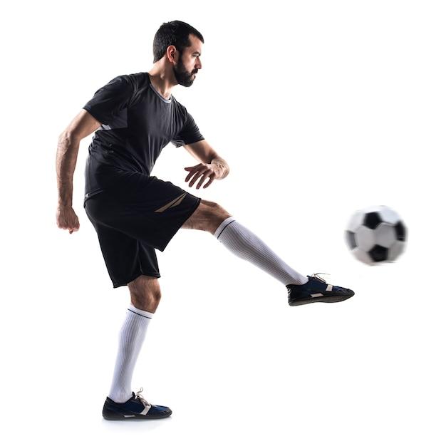 kicking Adult ball