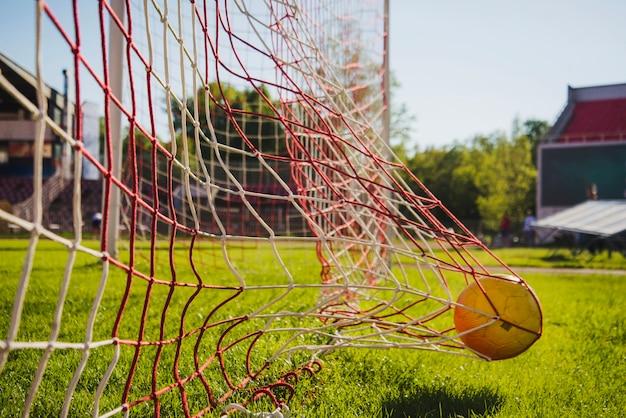 Ball hitting net