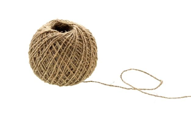 糸の玉。天然ロープ。