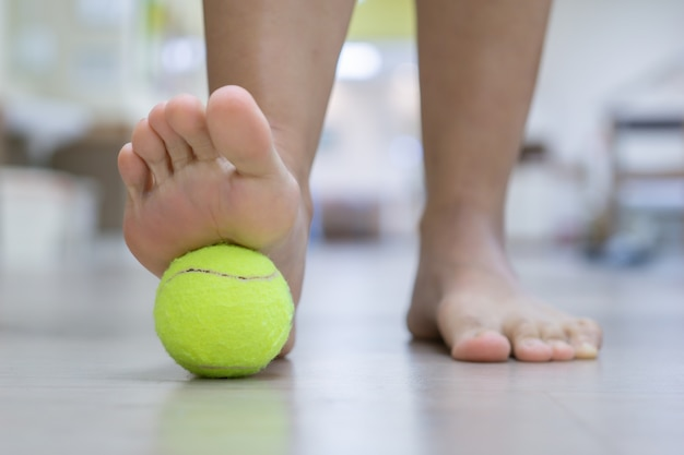The ball will apply pressure to the painful spot and raise the procedure it's effective