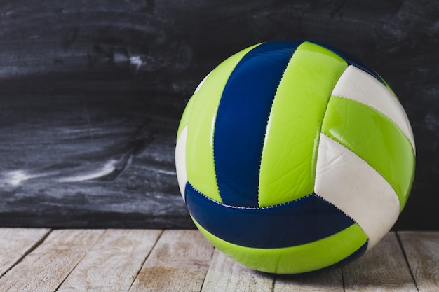 Ball on wooden boards Premium Photo