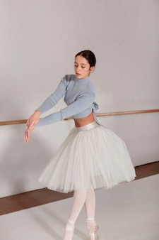 Ballerina dancing  in tutu skirt