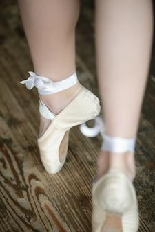 Ballerina legs on tiptoe